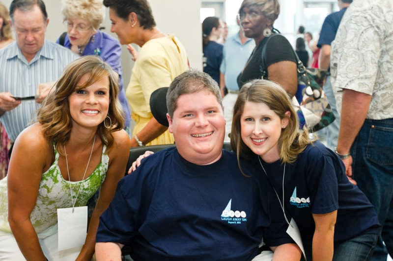 Photo of Ashley Warren, Blake Watson, and Letitia Kennedy at Laugh Away SMA 2011