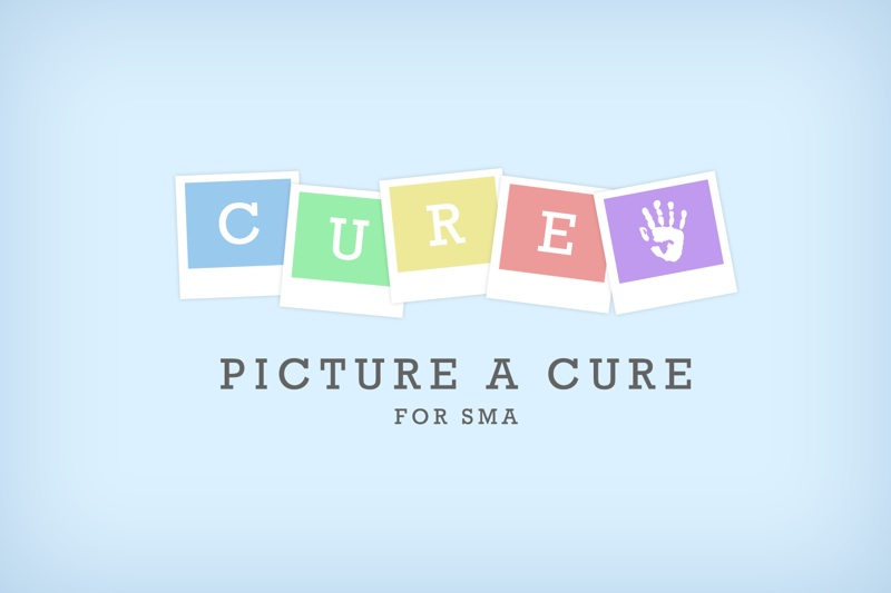 Logo made up of Polaroid-esque icons that each contain a letter, spelling the word 'cure'
