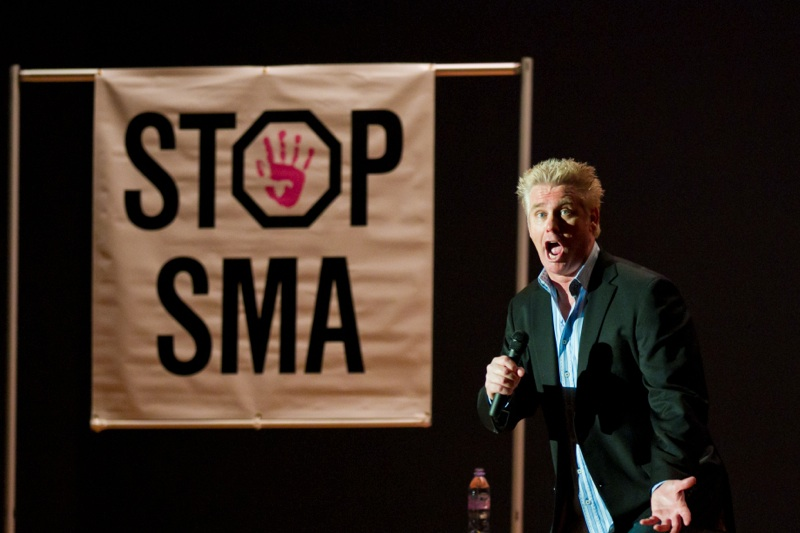 Comedian Brian Regan on stage at Laugh Away SMA 2011